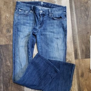 74AM A pocket flare denim blue Jeans